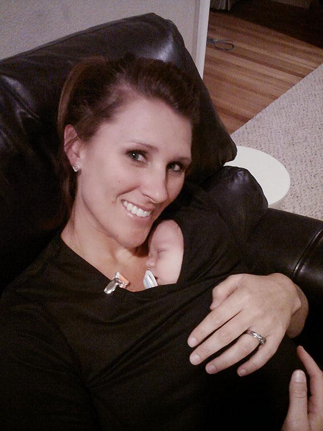Sarah Dykema holding Arie